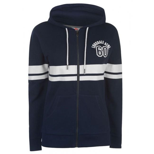 Lonsdale Stripe Zip kapucnis pulóver női - Labdashop.hu 315cc47300