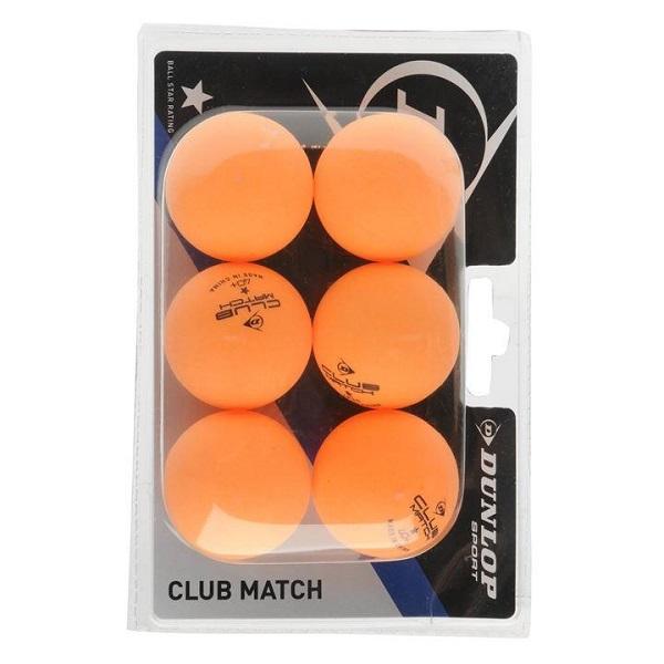 Dunlop Club Match pingpong labda 6 db