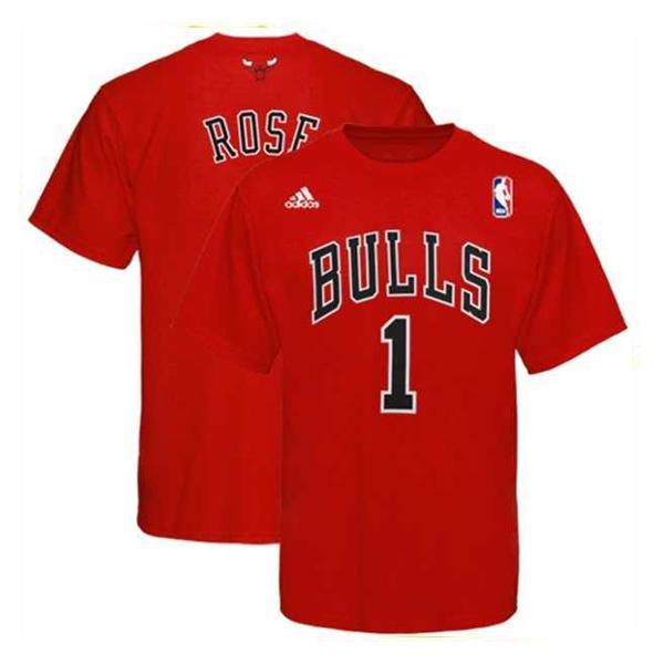 "Adidas NBA Gametime Tee ""Bulls"" Rose fiú póló"